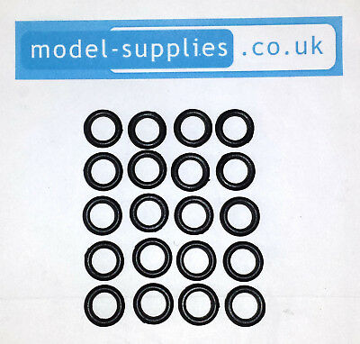 Matchbox 12mm Reproduction Hard Black Plastic Tyres fits 19 Lotus, 52 BRM Front