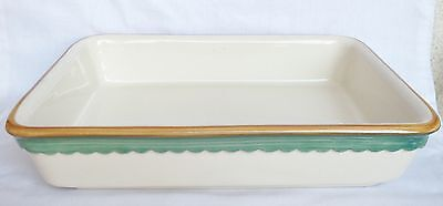 BHS Oven Dish - BHS Lasagne Dish - Green and Gold