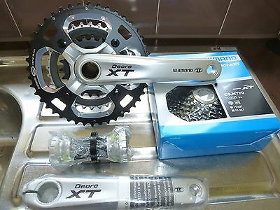 Shimano XT M770 Triple 9 Speed Chainset, Cassette and SRAM Chain