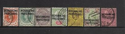 Bechuanaland 1897 fine used stamps CV £55