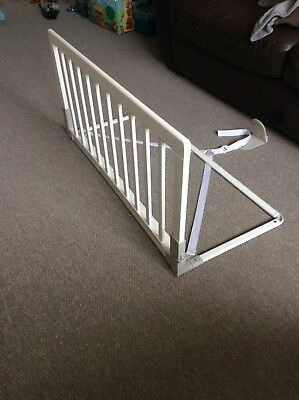 Babydan Wooden Bed guard White excellent condition