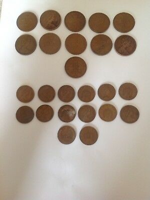 New Penny 1971 1p's + 2p's 1971 to 1981