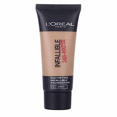 2 x L'Oreal Paris Infallible 24H Matte Foundation 35ml - 30 Honey/Miel