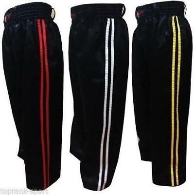 KO Kids Polycotton Kickboxing Full Contact Trousers (Pants) - Red / Yellow / Wh