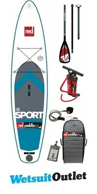 2017 Red Paddle Co 11'0 Sport Inflatable Stand Up Paddle Board + Bag, Pump, Padd