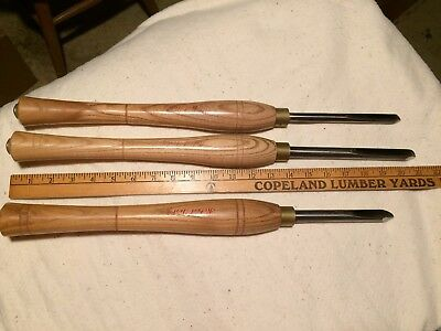 3 Robert Sorby Turning Tool Gouge