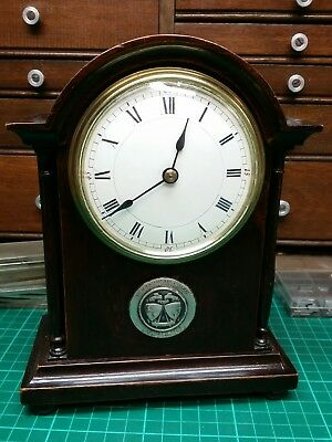 French wood cased timepiece cylinder escapement clock. Golf Trophy 1924