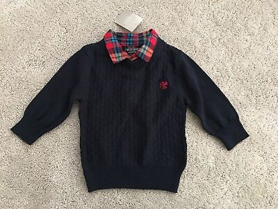 Next Baby Boys Formal Jumper 3-6 Months New With Tag