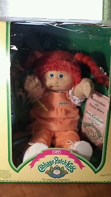 1985 Cabbage Patch Kid Red Hair Blue Eyes Dimples Tooth Carlos Jean