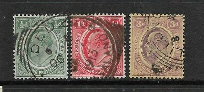 Nyasaland 1908 fine used stamps