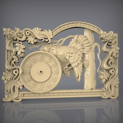 (925) STL Model Clock for CNC Router 3D Printer  Artcam Aspire Bas Relief