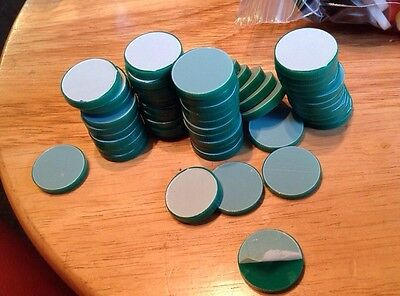 LASER CUT acrylic discs approx 20mm brand new  circles GREEN pk of 50