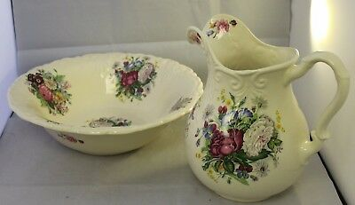Floral Wash Bowl and Jug ##GADAC33SE