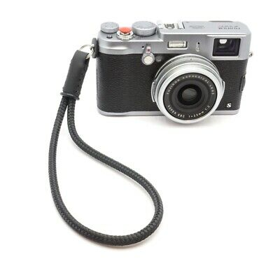 Silky Cord & Leather Camera Wrist Strap - Handmade by Cordweaver