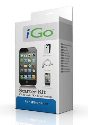 iGo Kit for Apple iPhone 4 / 3 USB Car Charger Sync Cable Screen Protector