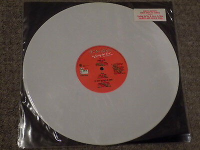"BON JOVI Living In Sin Rare 1989 UK limited edition White Vinyl 12"" single"