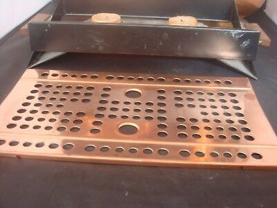 vintage copper hotplate 2 burner section smart retro/ART DECO ENGLISH IDEAL XMAS