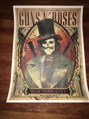 Guns N' Roses Not In This Lifetime Tour 2017 Nyc Slash Poster MSG