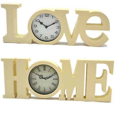 3D Love Home Sign Living Room Clock Wall Mountable