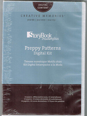 Creative Memories, Memory Manager + StoryBook Creator + Preppy Patterns 3CDROMs