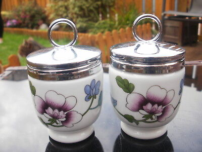 A pair of ROYAL WORCESTER EGG CODDLERS - ASTLEY PATTERN - STANDARD - TYPE 12