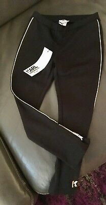 Girls Karl Lagerfeld ponte Pants Sz 5T BLACK, with gold trim MUST SEE! SOLD OUT!