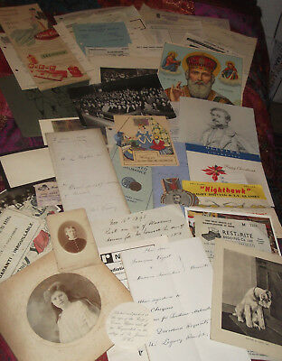 Job Lot  Mix Of Ephemera,Letters,victorian rec,1914 document,laws of cricke etc