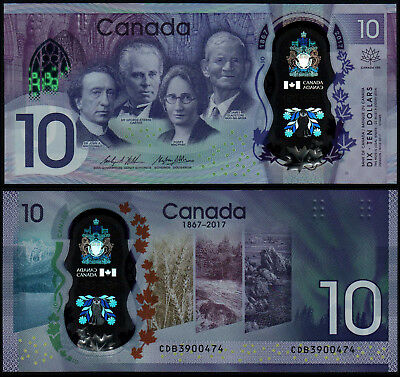 Canada 10 Dollars Wilkins & Poloz (P New) 2017 Commemorative Issue Polymer Unc