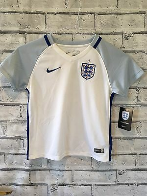 Bnwt England Nike 2016-17 Football Shirt Jersey 4-5 Yrs Kids Scrappy On Back A21
