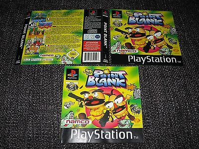 Point Blank - Sony Ps1 Manual & Front & Back Inlay Covers