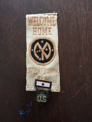 Early Welcome Home 27th NY Division Marine Military Medal W Ribbon