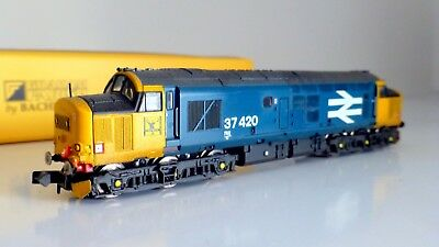 Graham Farish (ex371-165) Class 37  37420 BR Large Logo  renumbered weathered