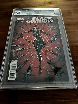Black Widow #1 Variant Cover CGC 9.8 Signed J Scott Campbell (2014)