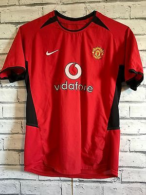 Nike Manchester United Football Shirt 2002-2004 Jersey Boys Kids 14-15 Years