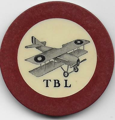 Beautiful Crest & Seal Casino Or Poker Chip-BI PLANE TBL-Location Unknown To Me