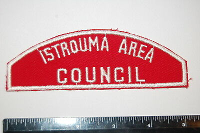 Louisiana Boy Scout ISTROUMA AREA / COUNCIL Red & White Patch