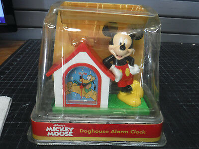 Disney Mickey Mouse Doghouse Alarm Clock NIB Plutos Doghouse Alarm Clock