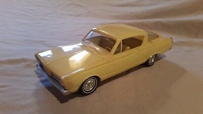 Vintage 1966 Plymouth Barracuda 2DR Fastback Dealer Promo Car Yellow Friction