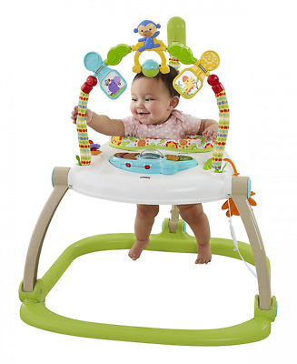 Fisher-Price Rainforest Spacesaver Jumperoo Baby Bouncer Folding Portable - NEW