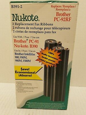 Nu-kote B391-2 Compatible Fax Ribbon-Brother PC-91-Nu-Kote B390 Black-Brother