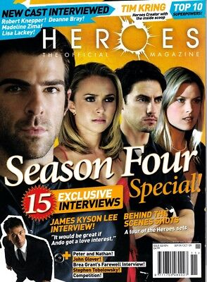 Rare!! HEROES The Official Magazine 2009 #11 Season Four Special Tim Kring