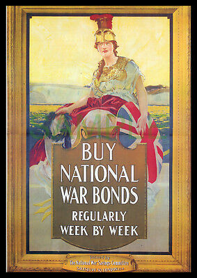 Buy National War Bonds WW1 framed 1917 poster reproduction Britannia