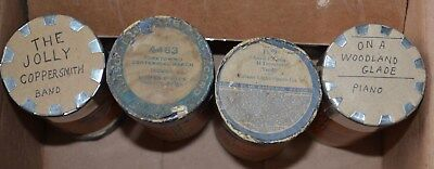 Edison Blue Amberol Cylinder Records - LOT of 4 Cylinders - 2564 4463 1989 4684