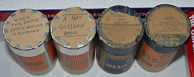 Edison Blue Amberol Cylinder Records - LOT of 4 Cylinders - 3287 2968 1834 1517