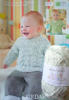 Sirdar Baby Speckle DK Baby Sweater Knitting Kit