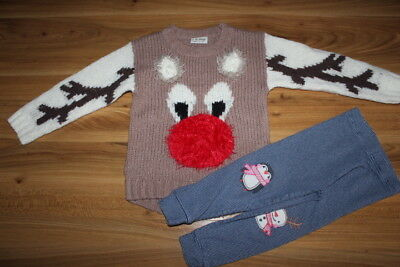 NEXT girls Christmas jumper leggings bundle 3-4 years *I'll combine postage