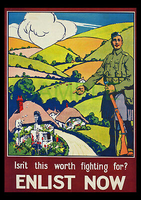 Your Country's Call Enlist Now WW1 framed 1915 poster reproduction