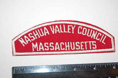 Mass Boy Scout NASHUA VALLEY COUNCIL / MASSACHUSETTS  Red & White Patch