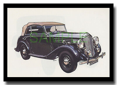 1937 Wolseley Twenty-Five vintage car Nuffield framed picture