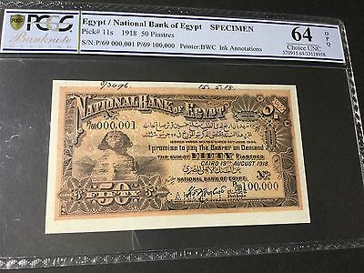 Egypt ,, Banknotes  1918 ,, 5Piaster  signed ROWLAT UNC64 OPQ